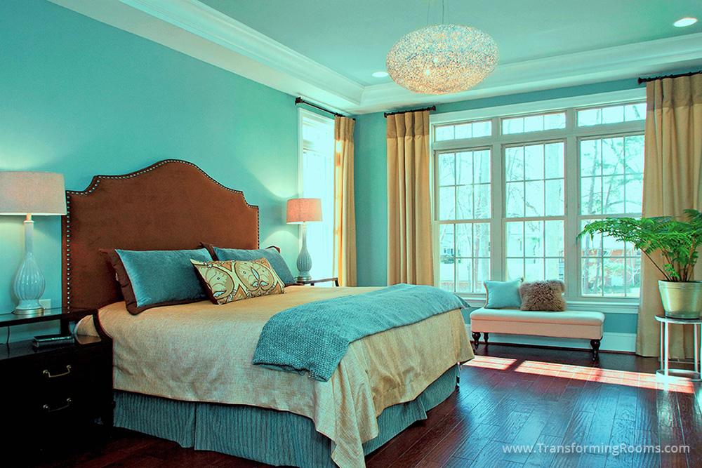 Interior Design Greensboro   master bedroom tray ceiling ...