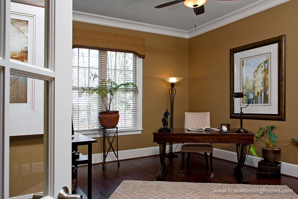 Remodeling | Greensboro Interior Design | Home Office Study Desk Chair  Cornice Greensboro NC
