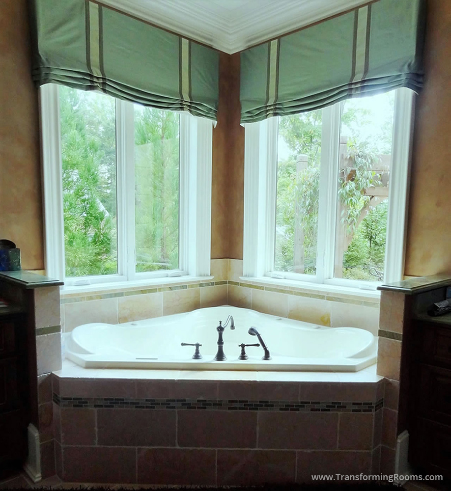 Interior Design Greensboro | bathroom window roman shade custom ...